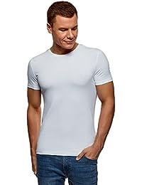oodji Ultra Homme T-Shirt Basique en Coton sans Étiquette