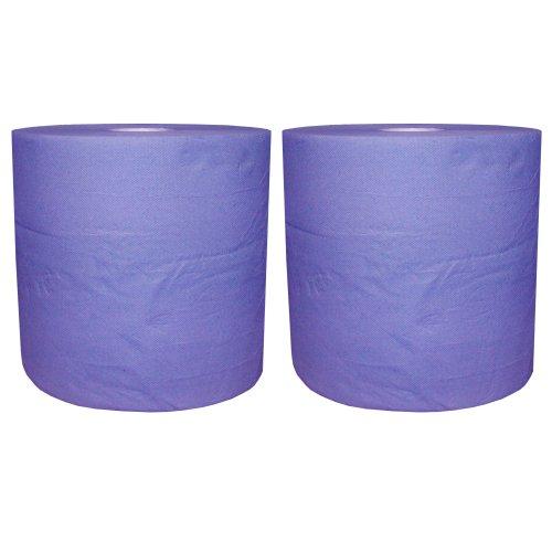Preisvergleich Produktbild 2 Putztuchrollen blau 2lagig 22 cm breit ca.110 m lang Werkstattpapier R125
