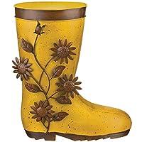 Regal Art & Gift 12051 Boot, Sunflower Planter, Yellow