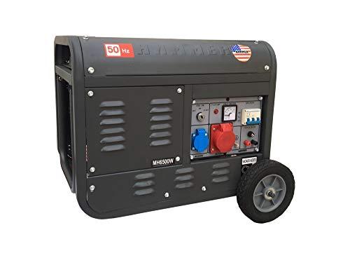 Gruppo elettrogeno/Generatore di corrente 3100W - 220/380V avviamento elettrico con chiave e telecomando carrellato - Hammer