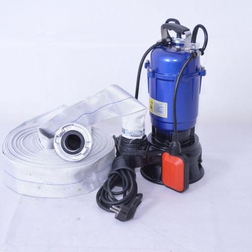 Fäkalienpumpe Tauchpumpe Schmutzwasserpumpe 0,55kW 300l/min mit 20m C-Schlauch