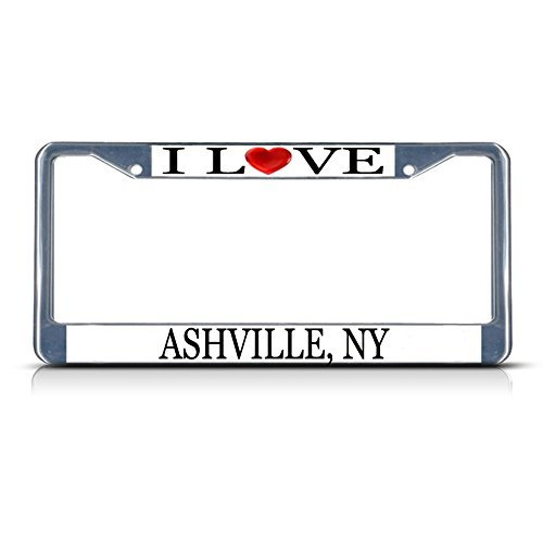 Nummernschild Rahmen I LOVE Herz Ashville (NY Aluminium Metall Nummernschild Rahmen