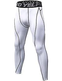Yujeet Moda Deportes Apretado Transpirables Pantalones Entrenamiento  Fitness De Baloncesto Base Pantalones De Compresión De Secado 7637d4da45e7