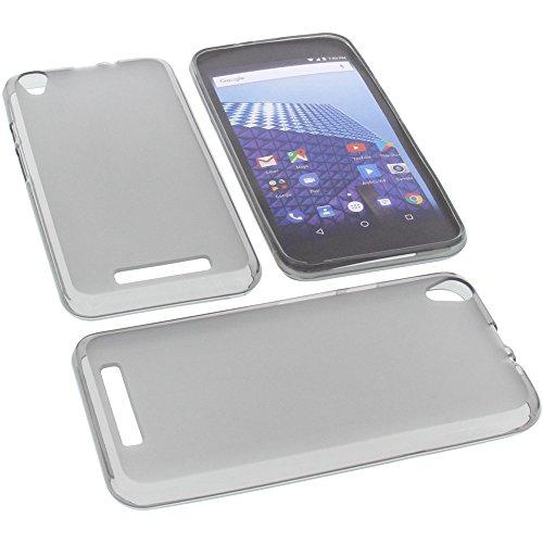 foto-kontor Tasche für Archos Access 55 3G Gummi TPU Schutz Handytasche grau