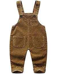 96ecb777a0c8 JiAmy Baby Dungarees Bib Pants Boys Girls Jumpsuit Toddler Corduroy Strap  Rompers Outfits Spring Autumn Clothes