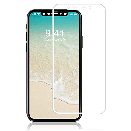 Luvvitt tempered glass Screen Protector case friendly compatibile per iPhone x 10(2017) White