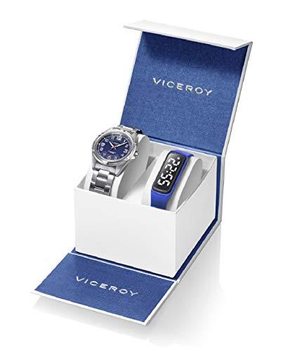 Viceroy 401211-35 Reloj Niño Comunión Cuarzo Acero Y Pulsera Actividad Tamaño 36 mm