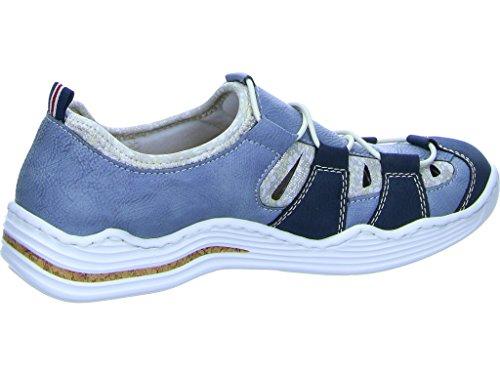Rieker L2561-14, Mocassini donna Blau