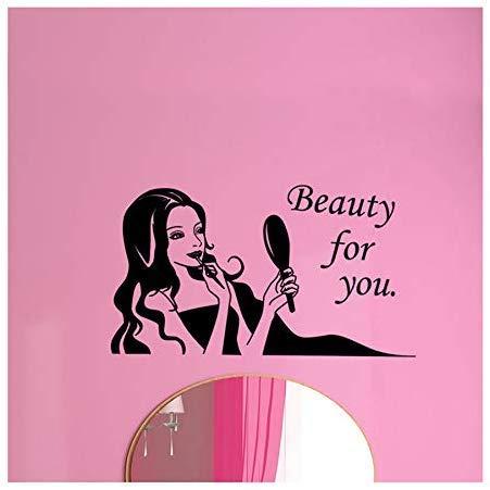 Friseursalon Friseur Nagelkosmetik Shop Aufkleber Dekoration Friseursalon Fensterglas Stick Entfernen Die Wand 57 * 101 Cm