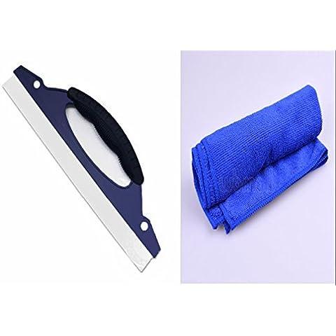 ewinever(TM) Juego de 3 coches de microfibra paño limpio felpa suave 30 * 30 cm de tela y goma polaca secado Flexi Auto Car Wash agua nieve Cepillo de limpiaparabrisas