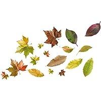 PLAGE 157011 Adhesivos de decoración-Hojas de otoño, 2 Hojas 29,7 x 21 cm