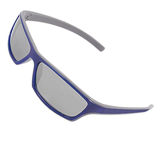 sourcingmap® Unisex Rechteck Objektiv Blau Grau Rahmen Flat Top Sonnenbrille DE de