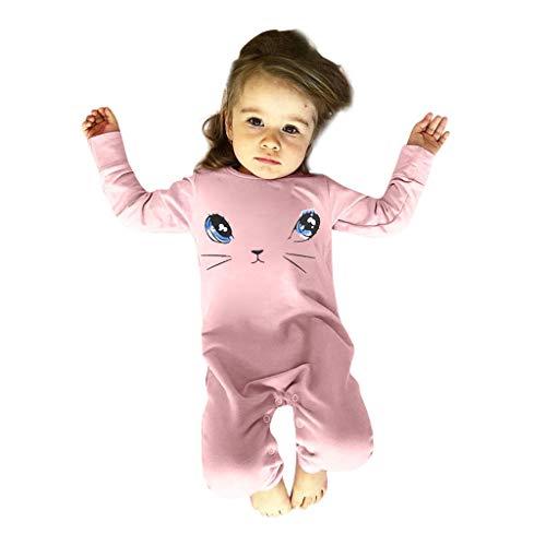 TPulling Baby Mädchen Kleidung Karikatur-Katzen-Prinzessin Romper Jumpsuit Outfits ()