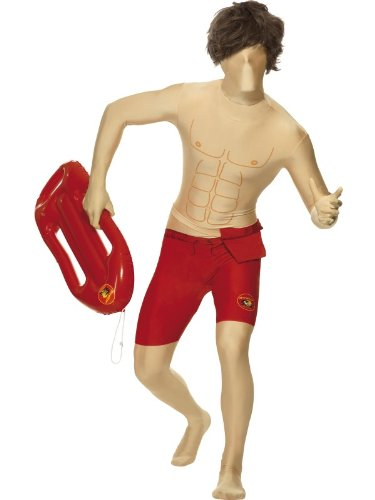 (Smiffy's - Baywatch Second Skin Kostüm Anzug David Baywatchkostüm Gr L)