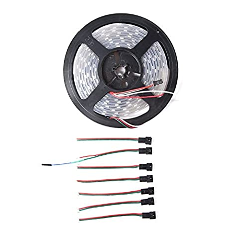 Venel Electronic Component,weatherproof Digital RGB LED Strip,Integrated Control Circuit and RGB Chip,Can Be Used in Home Decorations,Festives and Interactive Art Installations.Over 50,000 Hours