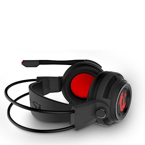 MSI DS502 - Auriculares de Gaming, color rojo y negro