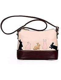 ALIKEEY Borsa A Tracolla In Pelle Di Coniglio Gatto Donne Moda Selvaggia  Caratteristiche Messenger Bag Portafoglio 7115a760c0d7