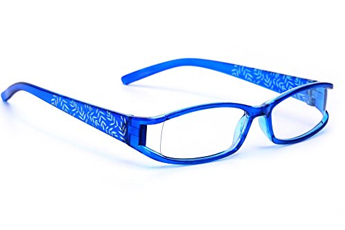 morefaz Damen Lesebrille Brille Laub Retro Vintage +0.50 +0.75 +1.0 +1.5 +2.0 +2.5 +3.00 +4.00 Reading glasses MFAZ Ltd (+1.5, Blue)