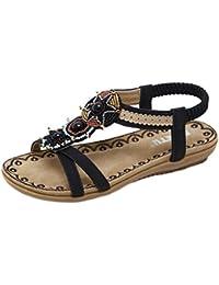 Damen öffnen Toe Thong Metallic Sandalen Sommer Flip Flop Flache Schuhe QECKGEzxK