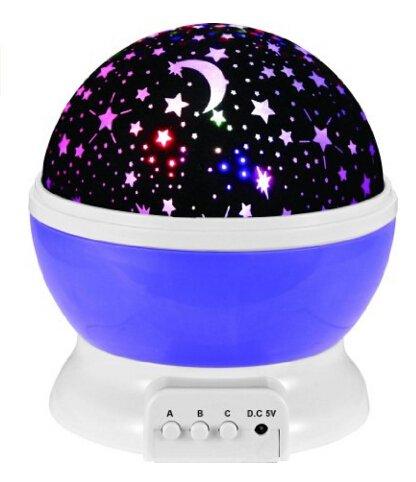 memeda 360grados romántica giratoria Cosmos proyector de estrellas starry Moon Sky Night...