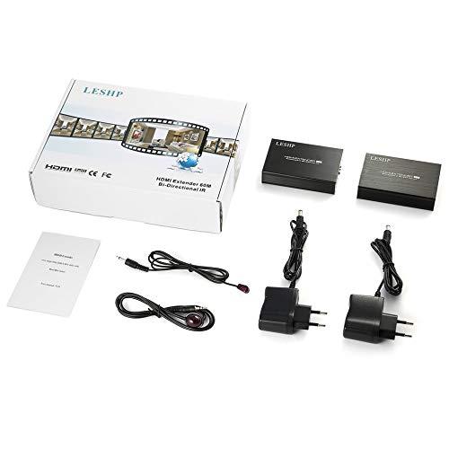 HermosaUKnight LESHP HDMI Extender Bidirektionaler IR-3D-HDMI-Loop-Out mit Dual-IR-Steuerung (Smart-home-stereo-receiver)