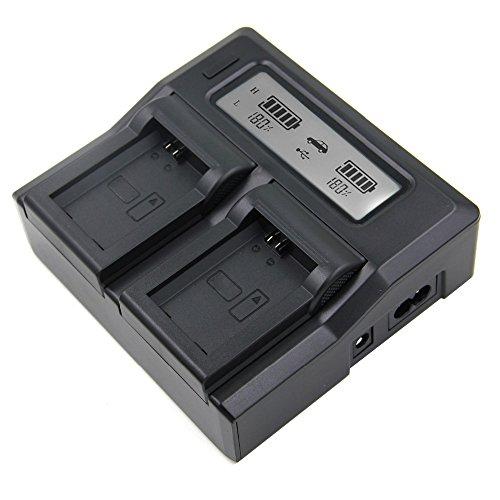Mondpalast @ LCD Digitale Doppio Caricabatteria per NP-FW50 FW50 Sony A6000 A5000 NEX-5 NEX-5R NEX-5N NEX-3 NEX-3N NEX-7 NEX-C3 DLSR A33 DLSR A55 Alpha A7 A7r RX10 A7s A7 II