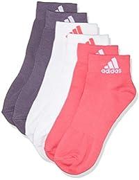 adidas per Ankle T 3pp Calcetines, Unisex Adulto, (Rosa/Blanco/Púrpura