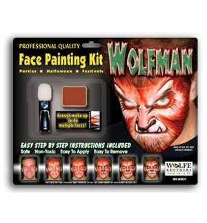 Wolfman Fx Kit - WolfMan Face Painting Kit by Wolf
