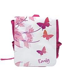 Preisvergleich für Kinder-Rucksack mit Namen Emily und schönem Motiv mit Schmetterlingen für Mädchen