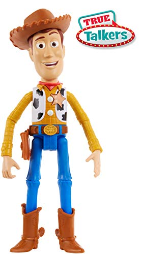 tory 4 Sprechender Woody Lightyear deutschsprachig, mit +15 Sätzen, 17 cm Spielzeug Action Figur ab 3 Jahren ()