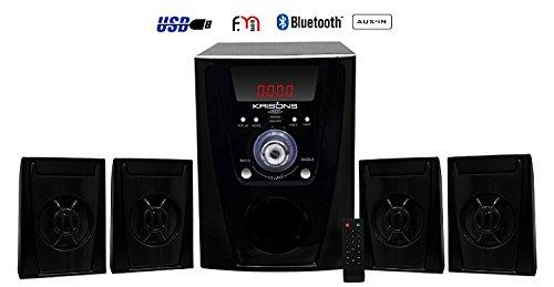 Krisons 4.1 Bluetooth Multimedia Speaker for TV/Laptop/Smartphones/Multimedia Devices (Black)