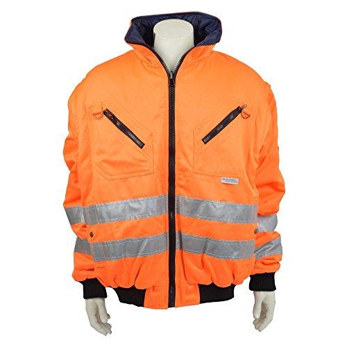 Preisvergleich Produktbild Asatex Warnschutz Pilotenjacke 2in1 5476 orange EN471 , Größe:Größe 2XL
