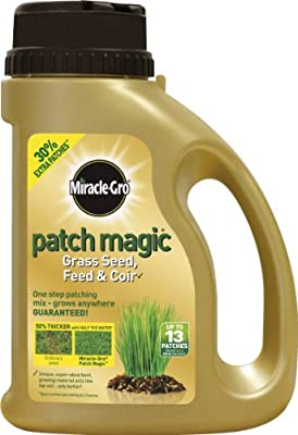 Scotts Miracle-Gro Patch Magic Grass Seed, Feed and Coir Shaker Jar