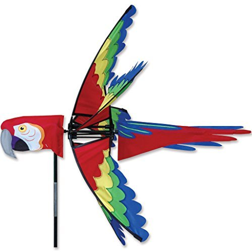 27 In. Scarlet Macaw Spinner by Premier Kites