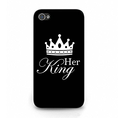 Lovers Boyfriend Girlfriend Couple Phone Hard Case Cover for Iphone 4/4s King Queen Couples PC Cover Case Color080d