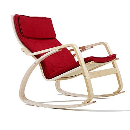 IAIZI Schaukelstuhl Recliner Erwachsenen Nickerchen Stuhl Balkon Lounge Stuhl Sessel Wohnzimmer Schaukelstuhl Stoff Sofa Stuhl | Wohnzimmer > Stüle > Schaukelstühle | QX Klappstuhl