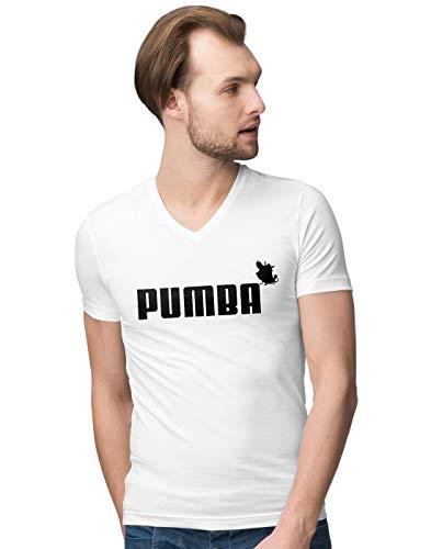 Pumba Lion and The King Herren V-Neck T-Shirt XXL -