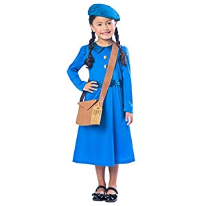 WW2 Evacuee Girls Fancy Dress World War II Book Day Week Childrens Kids Costume