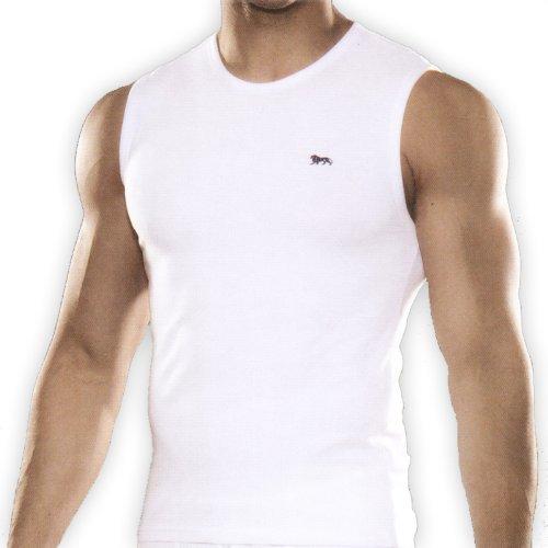 Lonsdale Canottiera Uomo Canottiera Tankshirt T-shirt Senza Maniche - bianco, L