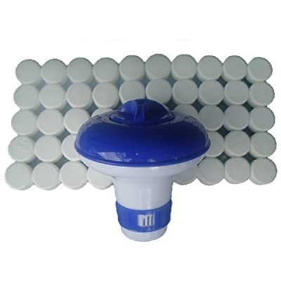 Happy Hot Tubs Floating Dispenser + 50 Ultimate Chlorine Tablets 20g Hot Tub Swimming Pool Spa