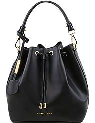 Tuscany Leather Vittoria - Sac secchiello pour femme en cuir Ruga