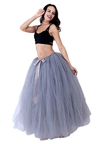 Honeystore Damen's Rock Tutu Tuturock Tütü Petticoat Tüllrock mit Gummizug für Karneval, Party und Hochzeit Grau One (Kostüm Schuhe Monroe Marilyn)