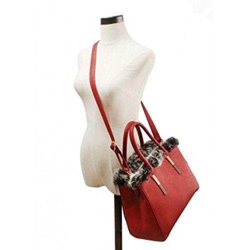 LeahWard® Damen Mode Tragetaschen Essener Kunstleder Schulter Handtaschen Zum Damen 1988 Khaki Handtasche