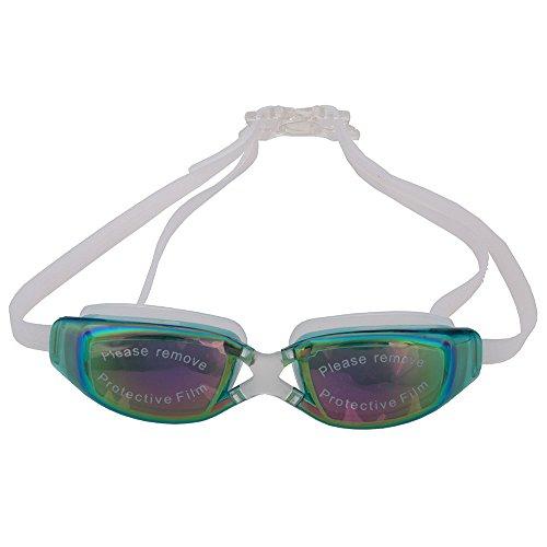 OGOBVCK schwimmen, brillen, verspiegelte schwimmen schutzbrille nicht undicht anti - fog uv - schutz - triathlon schwimmen schutzbrille für erwachsene männer frauen jugend kinder kind (grüne)