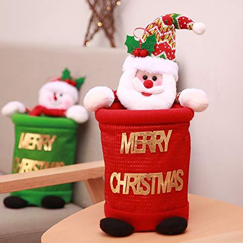 Bohisen 1pc christmas cloth garbage bin home storage holder santa pupazzo di neve cestino può sprecare borsa da basket