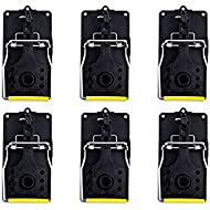 Aspectek Mouse Trap, Reusable and Easy To Use Snap Traps, Pack of 6
