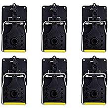 ASPECTEK HR2901 Trampa para ratón, Reutilizable y fácil de Usar, 6 Unidades, L