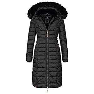 Navahoo Damen Wintermantel Mantel Steppmantel Winter Jacke lang Stepp warm Teddyfell B670
