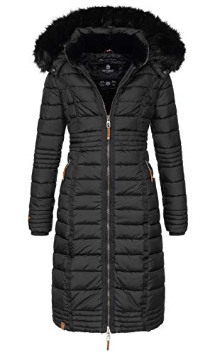 Navahoo Damen Wintermantel Mantel Steppmantel Winter Jacke lang Stepp warm Teddyfell B670 3