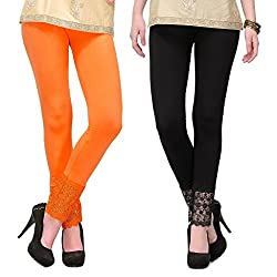 Esszee Palazzo Lace Legging(Viscose Lycra-4 Way Stretchable Pack of 2)